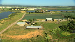 Stock Video Footage of Aerial California USA Farming crops field arable agricultural
