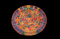 Typical colored clay maya calendar Kuvituskuvat