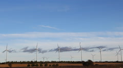 Wind Turbines Field, Green Energy - stock footage