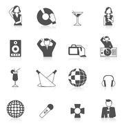 Nightclub Icon Set Stock Illustration