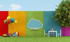 School playground for children Piirros