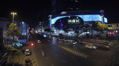 MBK traffic time-lapse in Bangkok Thailand Stock Footage