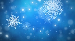 Christmas Flakes Blue Looped - stock footage