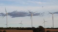 Wind Turbines Create Renewable Energy Stock Footage