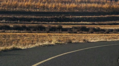 The amazing scene on the grassland Road at autumn, Hebei Province, China Stock Footage