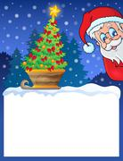 Stock Illustration of small frame with christmas theme - illustration.