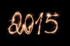 Happy new year 2015- inscription made sparklers. Kuvituskuvat