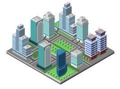Skyscraper City Concept - stock illustration