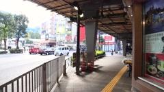 Walking around the Yurakucho office district, Tokyo, Japan Stock Footage