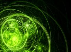 green chaos - stock illustration