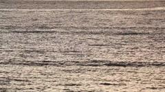Sea at sunset in Enoshima, Kanagawa Prefecture, Japan Stock Footage