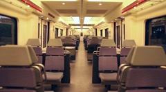 Empty commuters train transport commuter commute traveling public transport Stock Footage