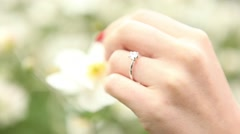 Stock Video Footage of Wedding ring, dreamy wedding background