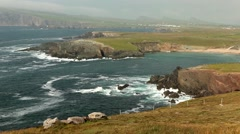 Beautiful waves on cliffs and bay landscape - stock footage