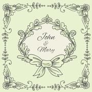 Wedding Wreath Sketch Stock Illustration