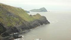 Skelligs islands on beautiful irish landscape - stock footage