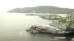 Beautiful wild landscape holiday destination in Ireland - stock footage