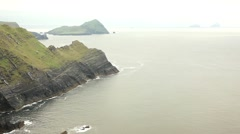 Amazing landscape, skelligs islands Stock Footage