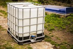 white water tank - stock photo
