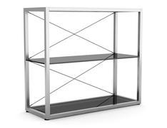Empty office shelves isolated on white background Stock Illustration
