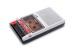 Old tape recorder - stock photo