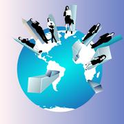 Concept of global business team Stock Illustration