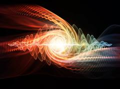 Wave Particle Stock Illustration