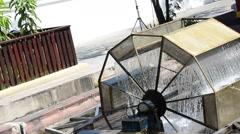 Water turbine Machine Thai Style Stock Footage