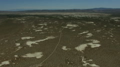 Aerial Ranch land Scrubland vegetation dry climate USA - stock footage