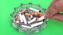 Cigarette Leaving And Taking Out The Ashtray Stock Footage