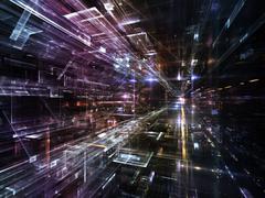 Lights of Future Metropolis Stock Illustration