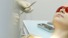 Examination in dental surgery Stock Footage