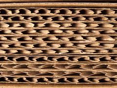 Corrugated cardboard texture background Stock Photos