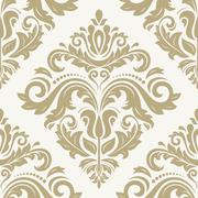 damask seamless  pattern. orient background - stock illustration