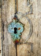 Old keyhole - stock photo