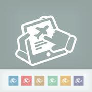 Airline website - stock illustration