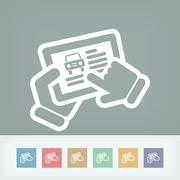 Automotive web icon - stock illustration