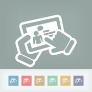 Stock Illustration of Chat touchscreen icon