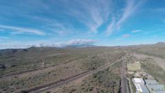 Arizona Highway Aerial - stock footage