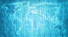 Stock Illustration of senegal territory on world map