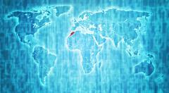 morocco territory on world map - stock illustration