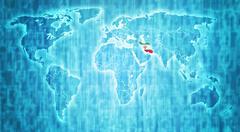Stock Illustration of iran territory on world map