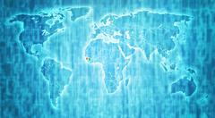 Stock Illustration of guinea territory on world map