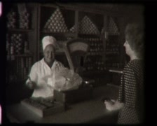 Soviet rural grocery store 1970S, inside, SD vintage video 8mm Stock Footage