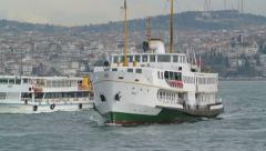 Passenger Boat in Bosphorus, Istanbul, Turkey (Editorial) Arkistovideo