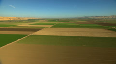 Aerial California USA Farming crops field vegetation agricultural - stock footage