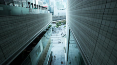 Time lapse wide view of people walking in the Yurakucho office area, Tokyo Stock Footage