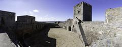 Alentejo Town of Monsaraz castle inner space . Portugal Stock Photos