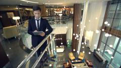 Leisure at Lobby Stock Footage