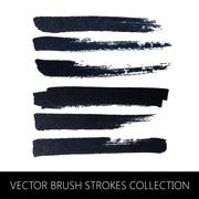 Vector collection of brush strokes Stock Illustration
